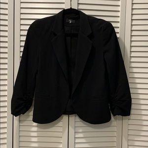 Aqua Short Black Blazer